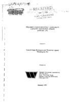 Western states regional agreement capacity assurance update, January 1991