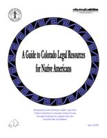 A guide to Colorado legal resources for Native Americans