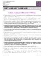School violence and social conditions
