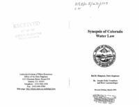 Synopsis of Colorado water law