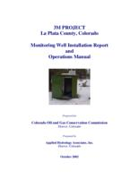 3M project La Plata County, Colorado monitoring well installation report and operations manual : prepared for Colorado Oil and Gas Conservation Commission ; prepared by Applied Hydrology Associates, Inc