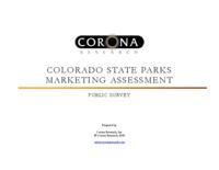 Colorado State Parks marketing assessment. Public survey