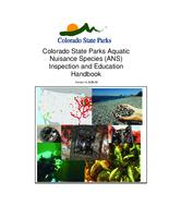 Colorado State Parks Aquatic nuisance species, ANS, inspection and education handbook
