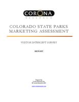 Colorado State Parks marketing assessment. Visitor intercept survey report