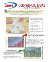 2004 Colorado oil and gas fact sheet