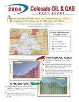 2004 Colorado oil and gas fact sheet