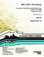 1989 to 2029 a river odyssey : proceedings of the 20th annual South Platte Forum October 21-21 [sic], 2009 Longmont, Colorado