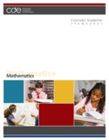 Colorado academic standards. Mathematics