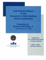 2nd interim report of the Governor's Child Welfare Action Committee