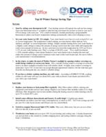 Top 10 winter energy saving tips