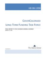 Final report to the Colorado General Assembly