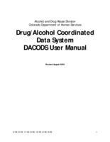 Drug/alcohol coordinated data system, DACODS user manual
