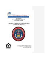 Housing choice voucher program administrative plan
