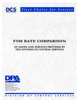 FY08 rate comparison of goods and services provided by the Division of Central Services