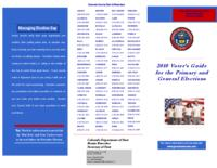 2010 voter's guide for the primary and general elections