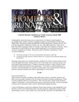 Colorado homeless & runaway youth awareness month, November 2008