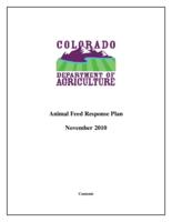 Animal feed response plan