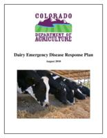 Dairy emergency disease response plan