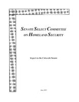 Senate Select Committee on Homeland Security report to the Colorado Senate
