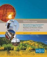 Renewable Energy Development Infrastructure, REDI, Project regulatory and economic analysis