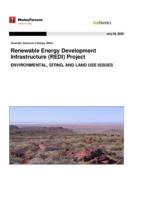 Renewable Energy Development Infrastructure, REDI, Project environmental, siting, and land use issues