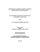 Colorado climate action plan scenario analysis for Colorado power sector