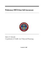 Preliminary MITA state self-assessment : state of Colorado Department of Health Care Policy and Financing