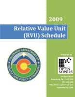 2009 relative value unit (RVU) schedule