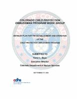 Detailed plan for the establishment and operation of the Child Protection Ombudsman Program