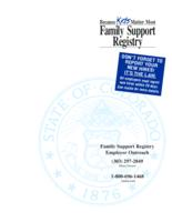 Family support registry employer outreach
