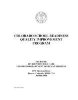 Colorado school readiness quality improvement program