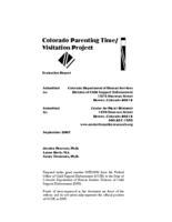 Colorado parenting time/visitation project : evaluation report