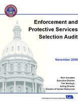 Enforcement and protective services selection audit