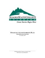 Financial accountability plan, Adams State College