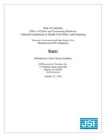 Outreach assessment and gap analysis for Medicaid and CHP+ expansion : report