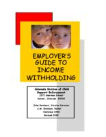 Employer's guide to income withholding