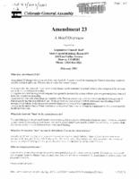 Amendment 23 : a brief overview