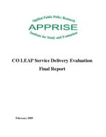 CO LEAP service delivery evaluation final report