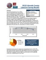 2010 Colorado county land use survey results