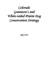 Colorado Gunnison's and white-tailed prairie dog conservation strategy