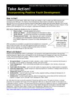 Incorporating positive youth development