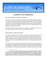 Common law marriage, Common law marriage (2012)