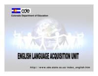 English Language Acquisition Unit