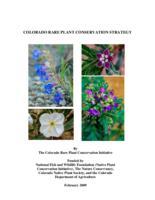 Colorado rare plant conservation strategy